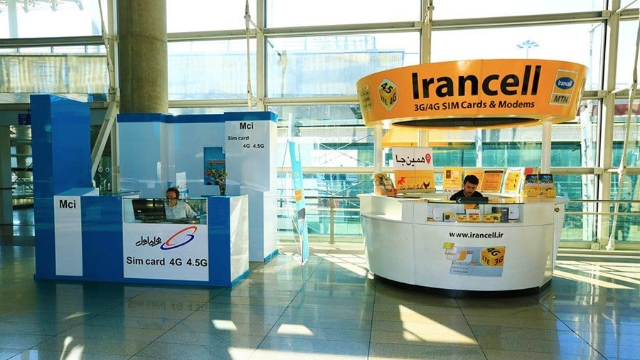 IranCell counter at the Imam Khomeini International Airport (Arrival Hall)