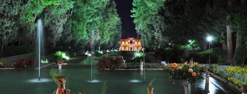 Shazdeh Garden, a historical Persian garden located in Kerman, Iran