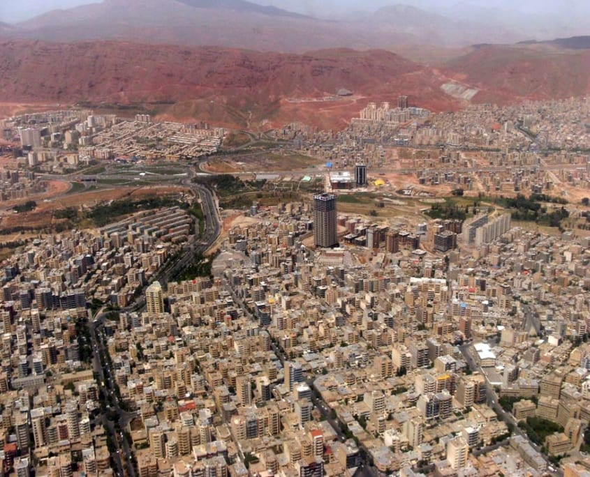 Aerial view of East of Tabriz