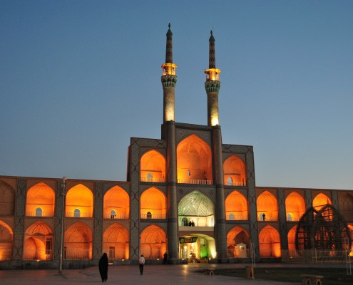 Amir Chakhmaq Mosque Yazd night