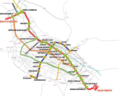 Shiraz Metro Map
