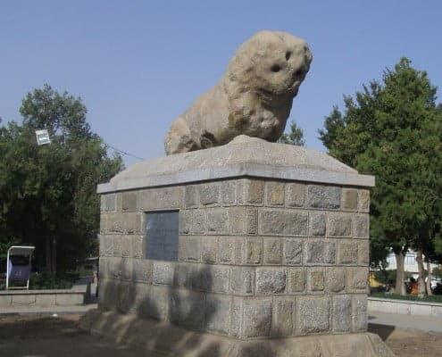 Stone lion Hamedan Iran
