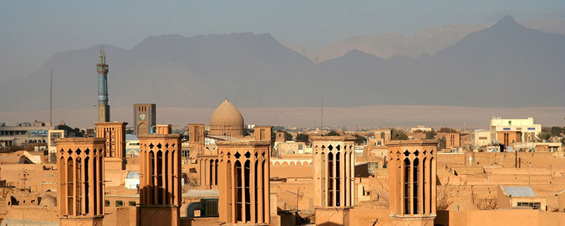 Yazd known as the city of wind towers, Zoroastrians, termeh