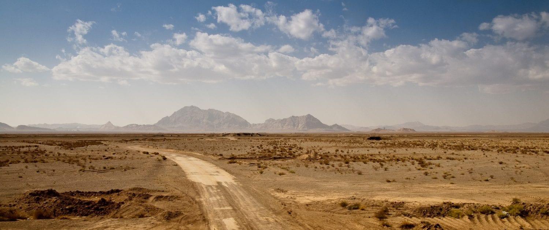 Desert Road Between Yazd and Abyaneh Iran
