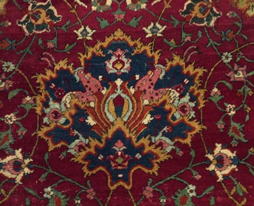 Safavid period carpet (detail): Shah Abbasi motif