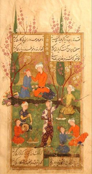Miniaturmalerei, Divan von Hafiz, Persien
