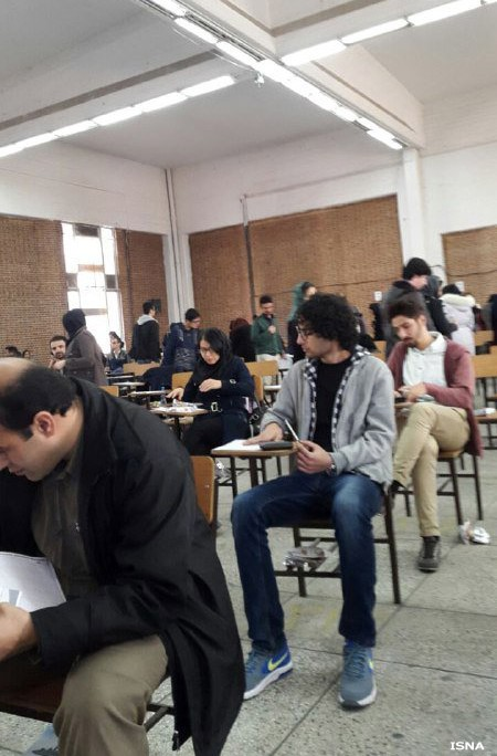 Thousands of Iranian students take the final exams to become licensed tour guide (2)