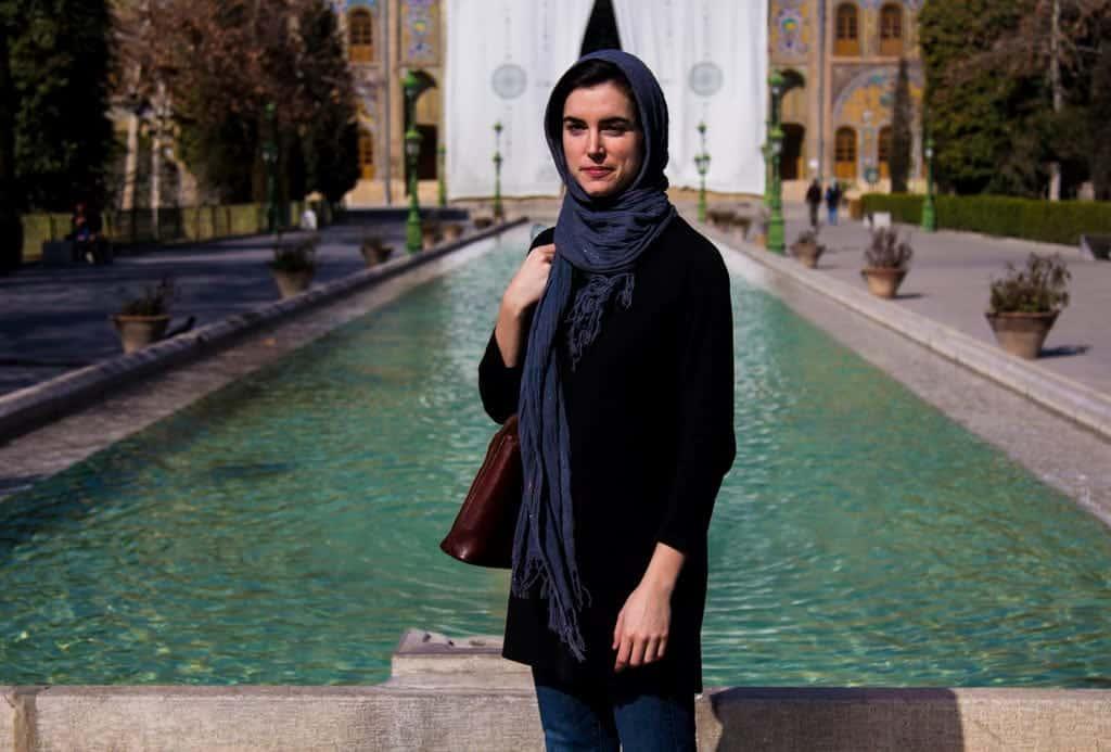 An Italian tourist visiting Tehran