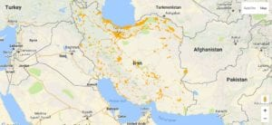 Irancell geographical coverage of IranIrancell geographical coverage of Iran
