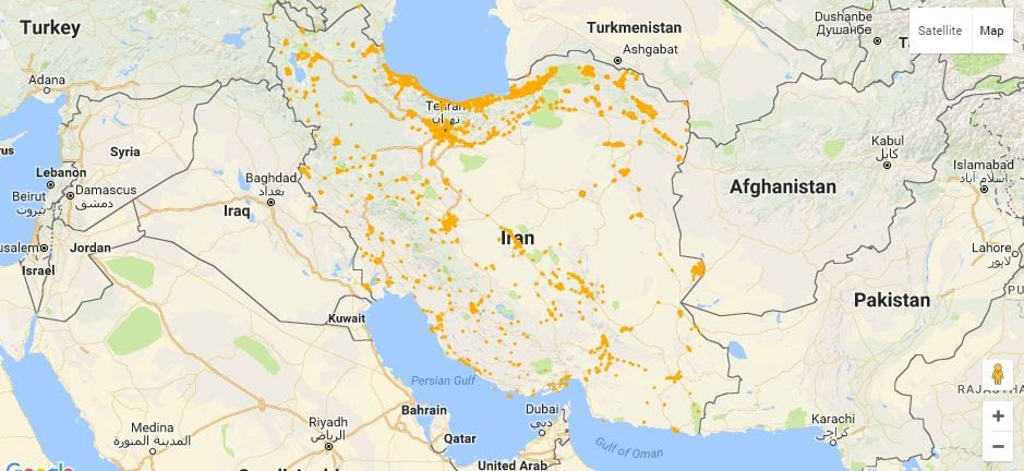 Irancell geographical coverage of Iran Irancell geographical coverage of Iran