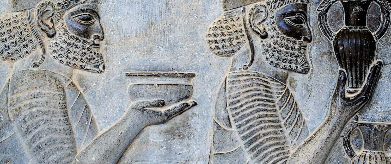 Nowruz Celebration in Iran Persepolis stairs of the Apadana relief