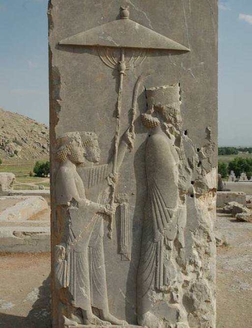A relief with a representation of Persian King Xerxes I. 5th century BCE, Persepolis.