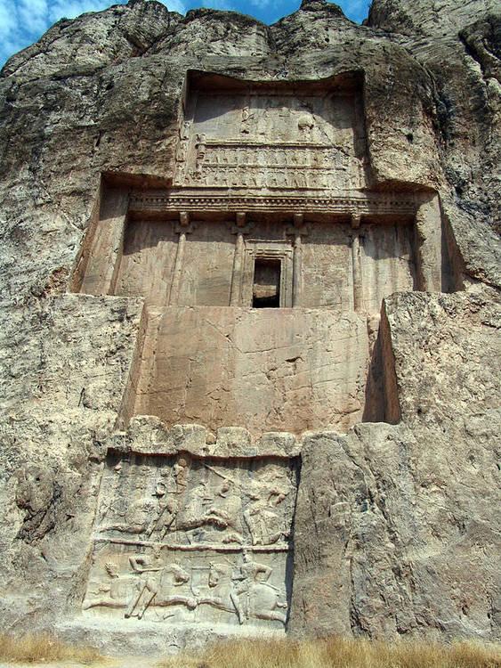 Tomb of Darius I, Naqsh-e Rustem, near Persepolis, Iran, c. 522–486 BCE