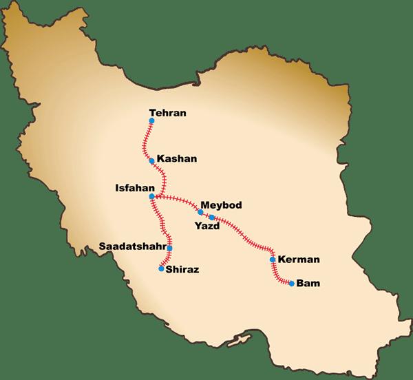 IranRailTour Map