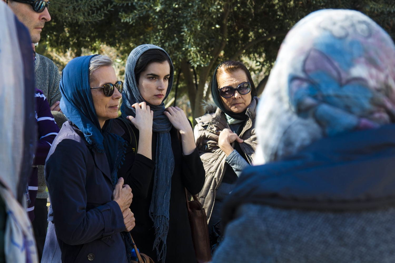 Italian teachers visiting Golestan Palace, Tehran, Iran