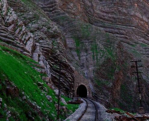 Iran Rail Tour – Stone Crossing On A Private Train