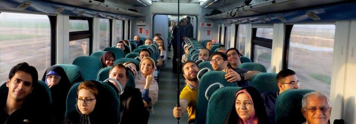 IranRailTour CrossingTheMountainsOfAlborzOnAPrivateTrain