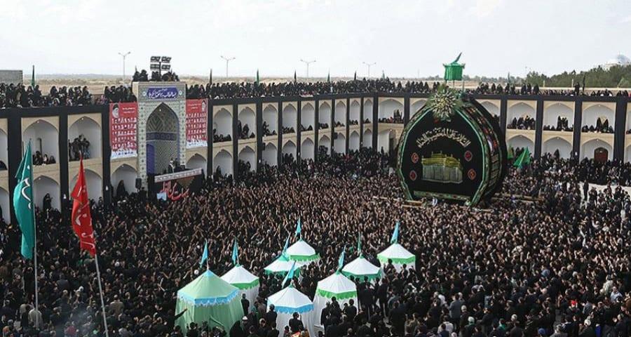 Nakhl Gardani in Yazd, Iran