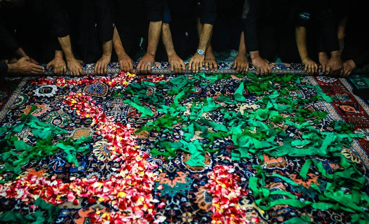 Qalishuyan (carpet-washing ritual) Mashhad-e Ardahal, Iran