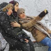 The first snowfall in Tehran