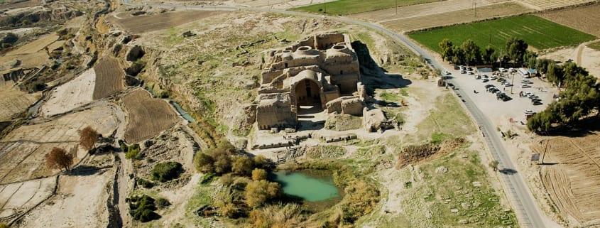 Ardashir Palace, aerial view