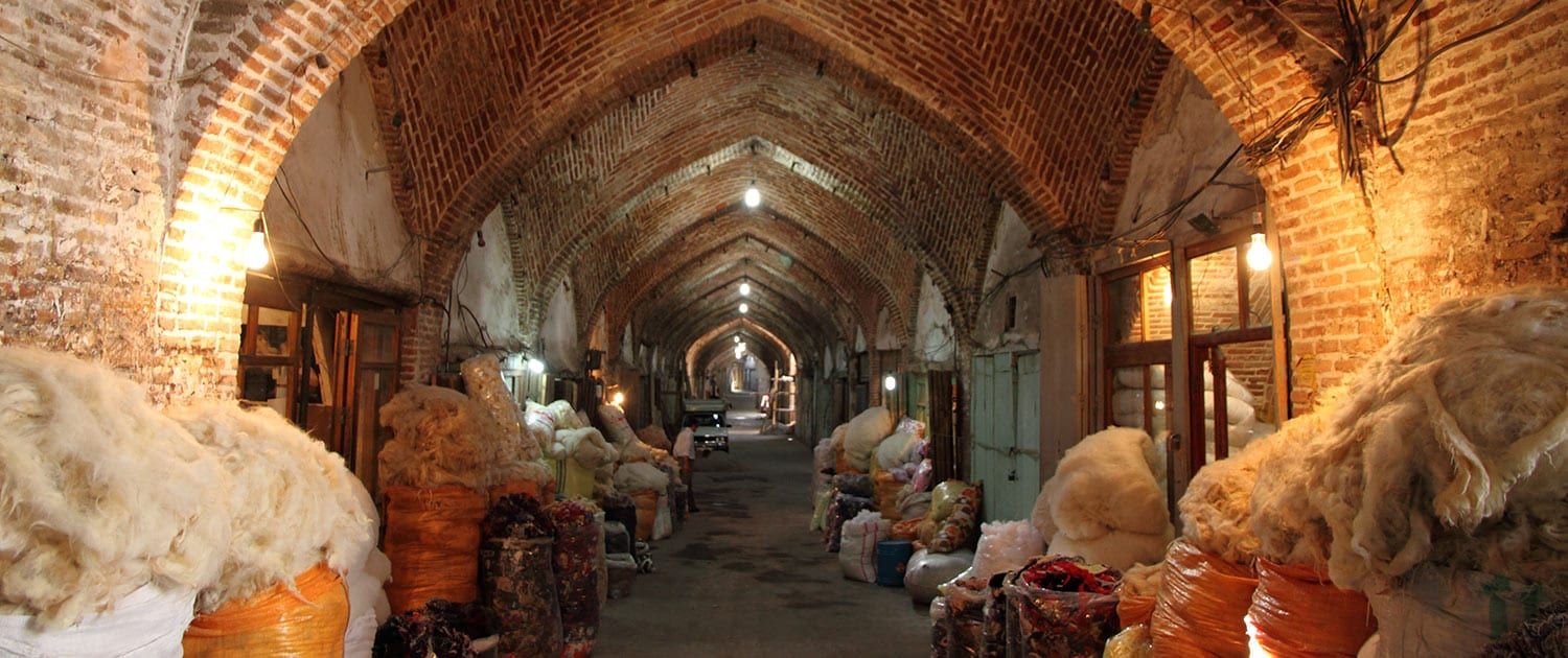 Tabriz Bazaar Complex, the largest covered Bazaar in Iran