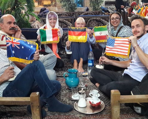 Western tourists visiting Iran