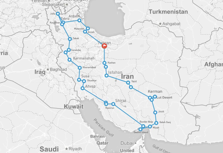 Iran Tour in One Month