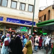 Eating in Grand Bazaar of Tehran