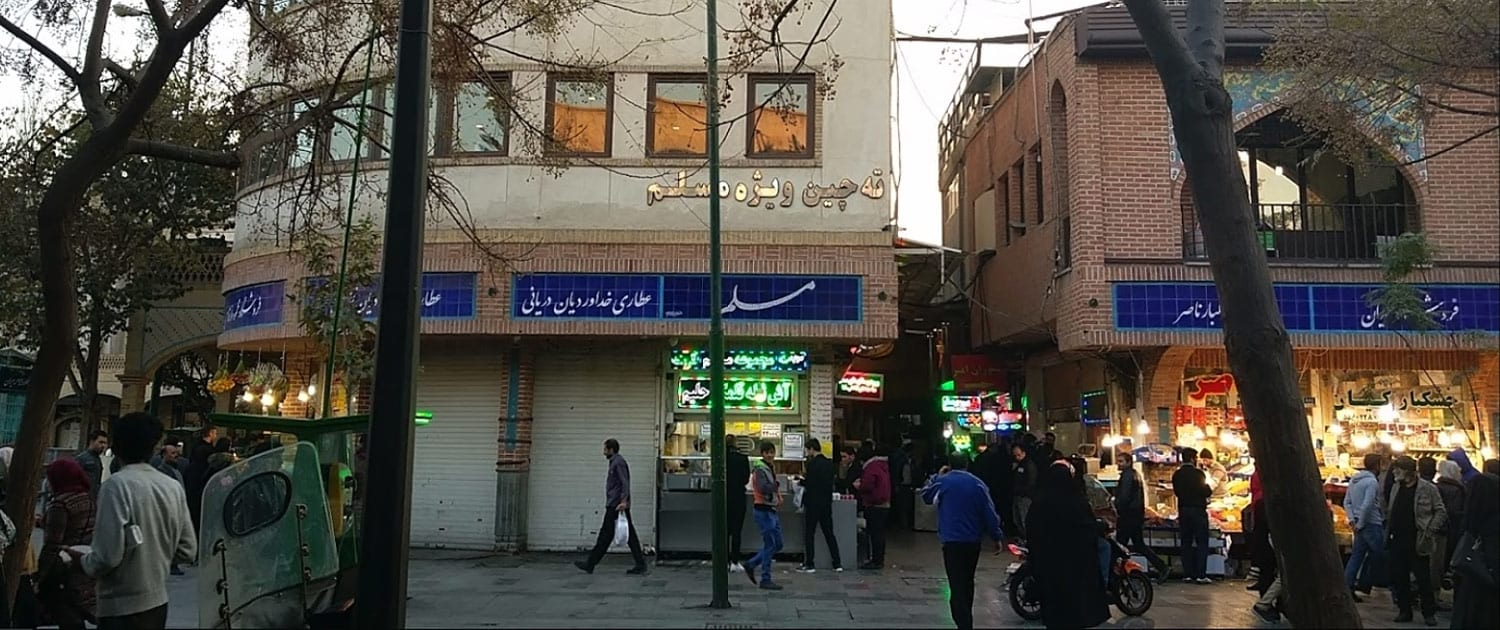 Eating-in-Grand-Bazar-of-Tehran