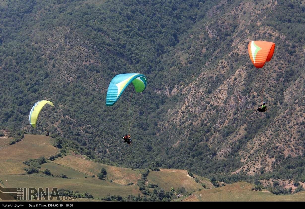 Paragliding adventure in northern Iran