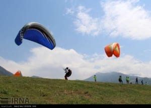 Paragliding adventure in northern Iran