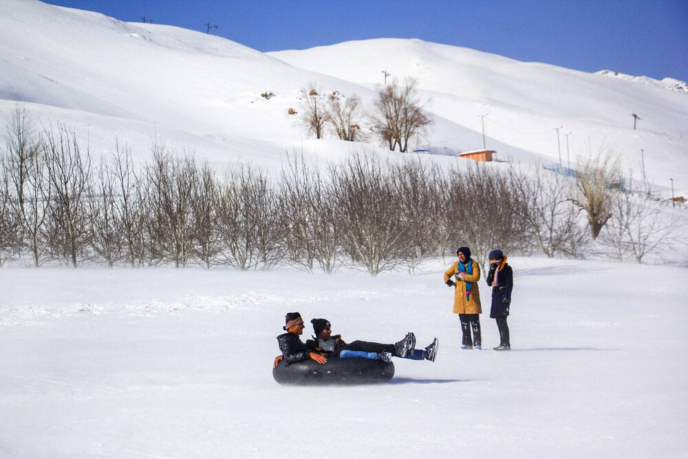 Heavy Snow Invites People to Utilize Kouhrang Ski Resort, Iran