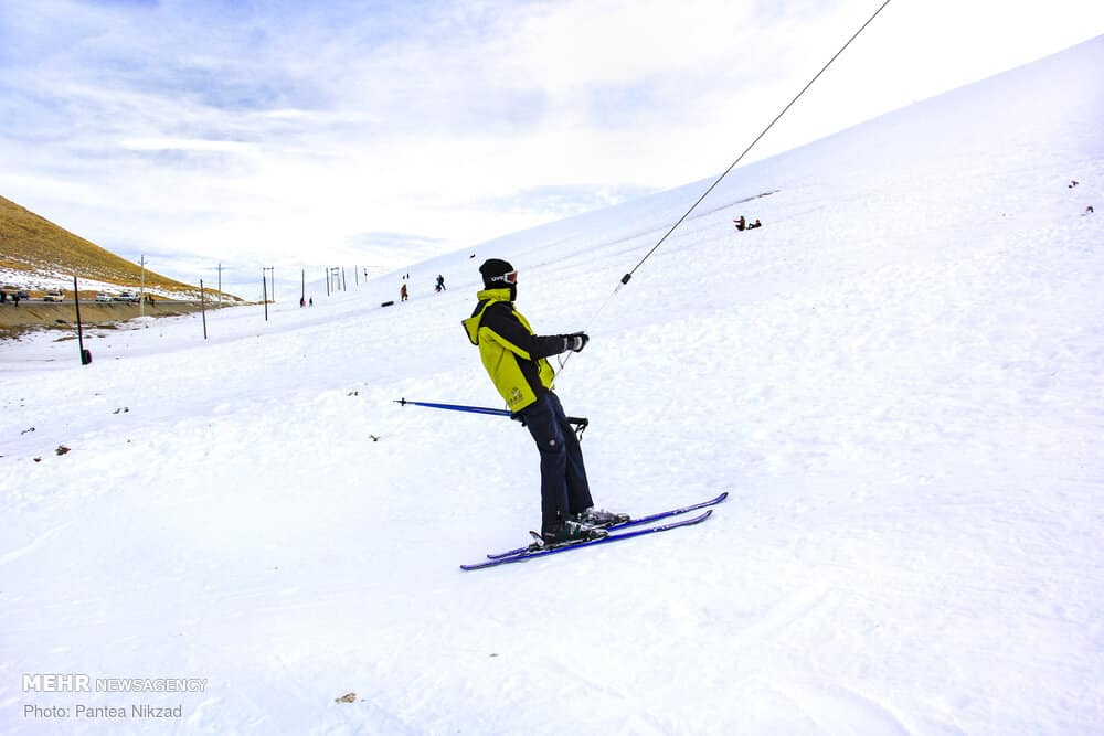Heavy Snow Invites People to Utilize Kouhrang Ski Resort, Iran