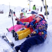 Skiing in Dizin. The largest in the Middle East