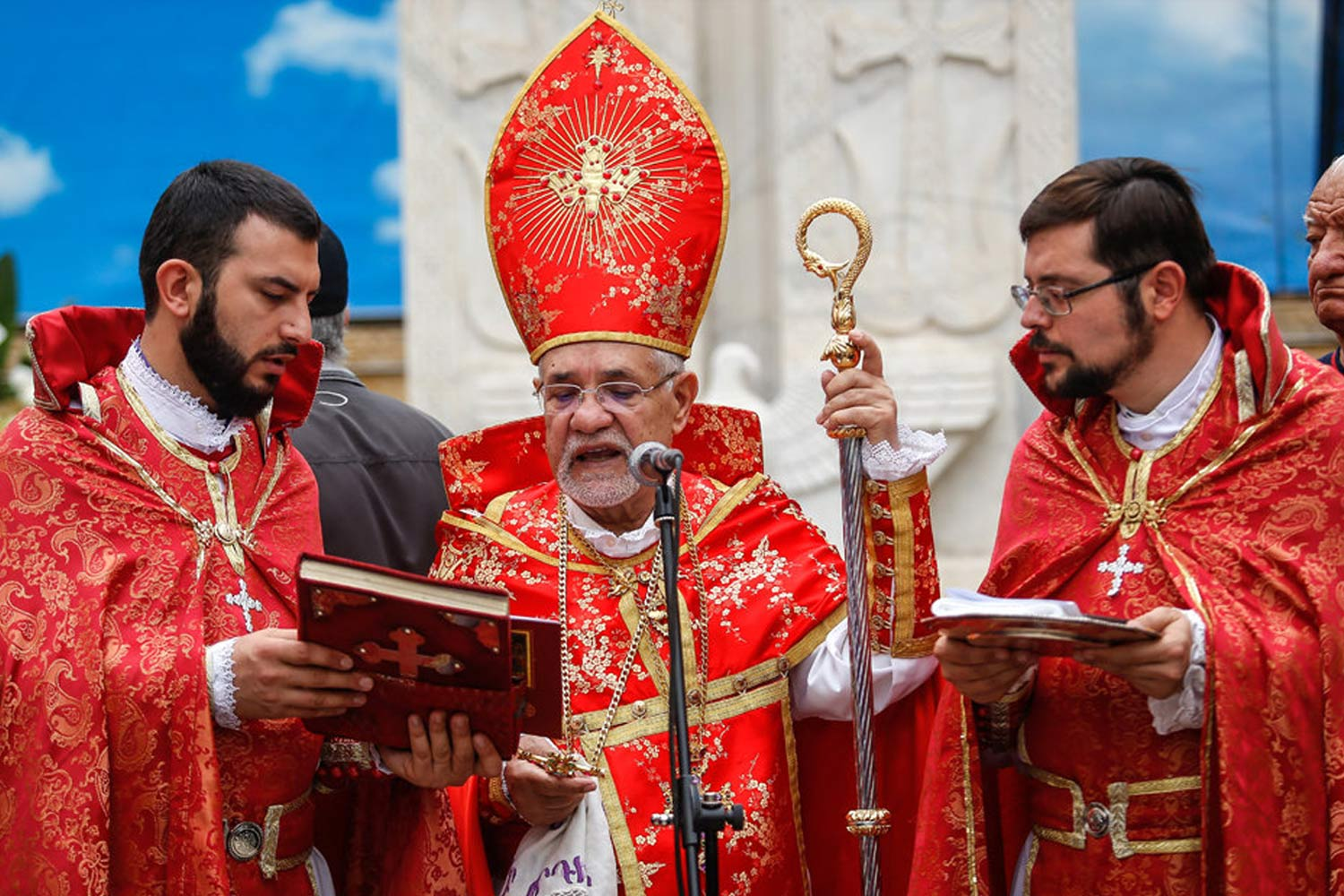 Armenians in Tehran's St. Sarkis Cathedral